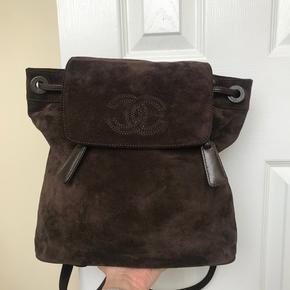 c31cf48d4f17 CHANEL Bags | Authentic Vintage Suede Backpack Chocolate | Poshmark